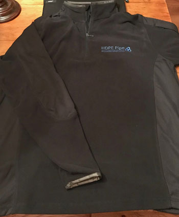 Lands End Quarter Zip Black