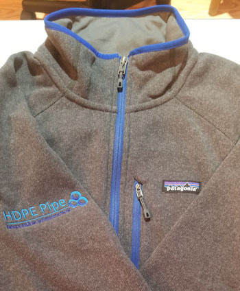 Patagonia Light Grey Blue Trim 1/4 Zip Fleece